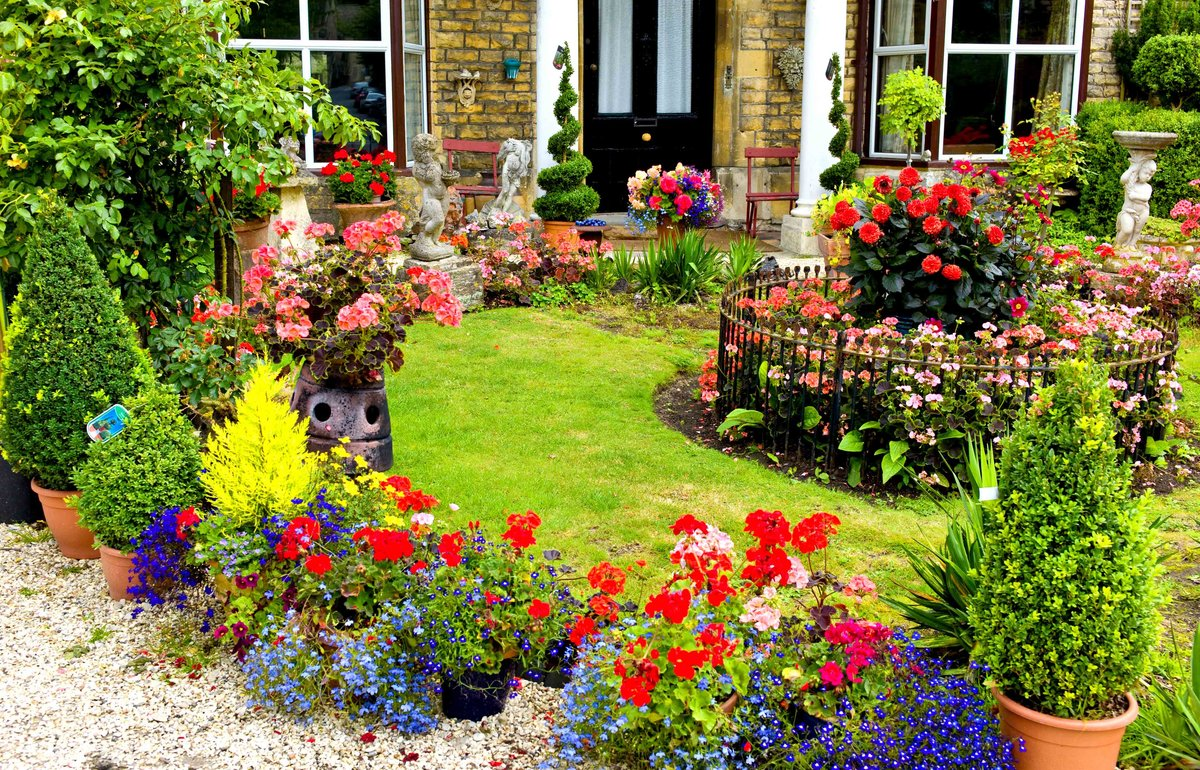 English Garden Border Designs til hjemmet have, Landskabspleje design